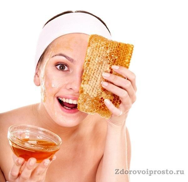Маска для лица в бане с медом