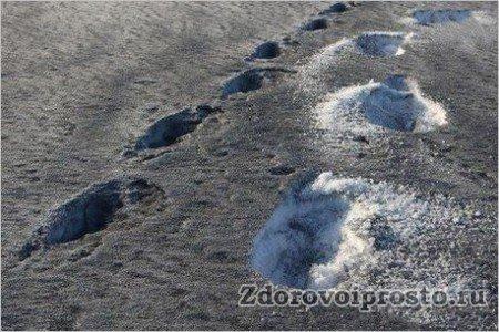 Такой снег может принести только вред, и польза талой воды, приготовленной из него, будет просто отрицательной.