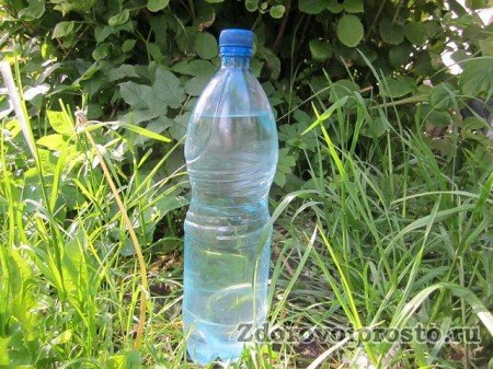 Первая фаза приготовления талой воды в домашних условиях – наливание в подходящую тару.