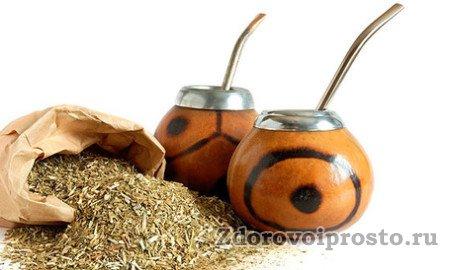Вред и польза чая мате обусловлены содержащимися в нём веществами.