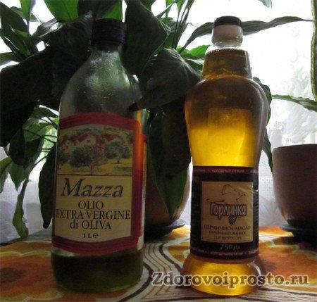 Какие бывают полезные жиры – оливковое масло Extra Virgin и горчичное холодного отжима. Из коллекционных погребов автора.